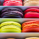 French colorful macarons in a rows - PhotoDune Item for Sale
