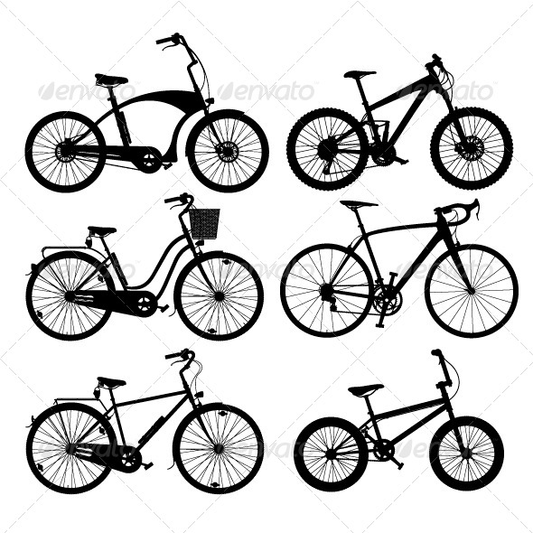GraphicRiver Bicycle Silhouettes 8329979