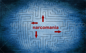 Narcomania maze concept - PhotoDune Item for Sale