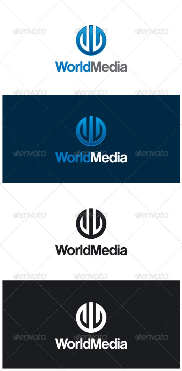 GraphicRiver World Media Letter W Logo 8330406