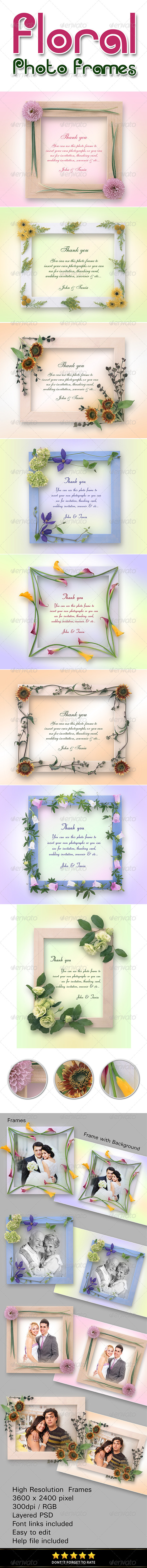 GraphicRiver Floral Photo Frames 8257283