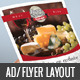 A4 Restaurant Flyer / Print AD layout - GraphicRiver Item for Sale