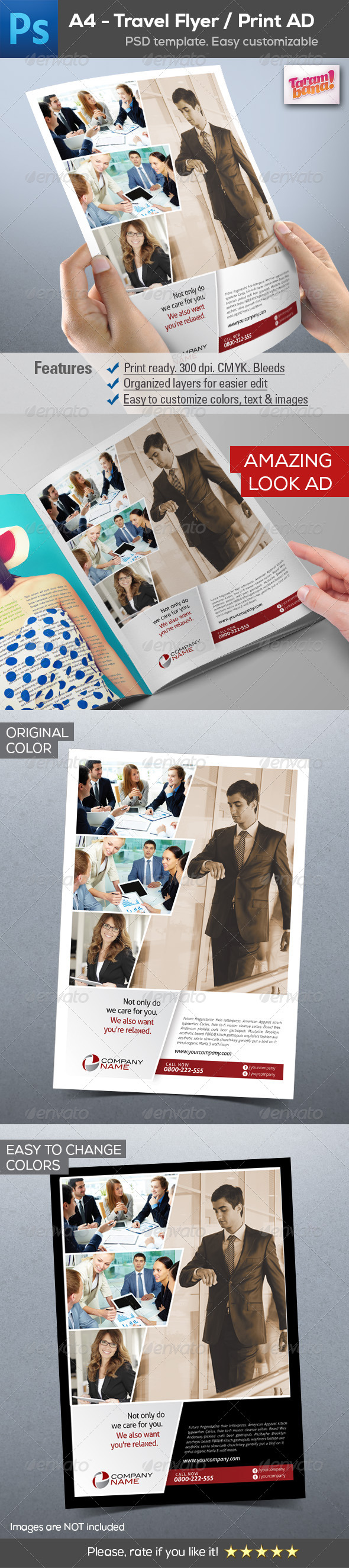GraphicRiver A4 Business Flyer Print AD layout 8278797