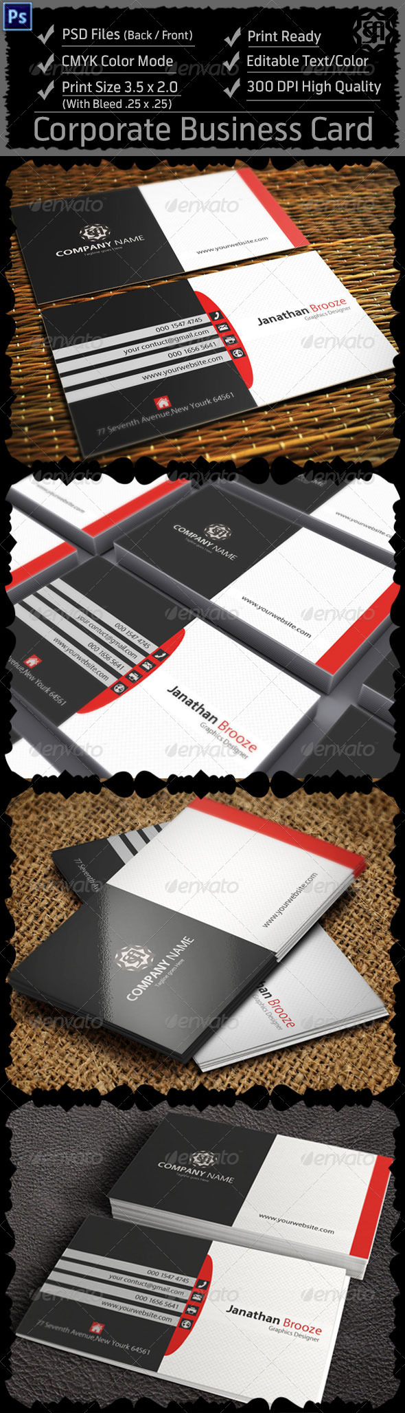 GraphicRiver Corporate Business Card 8324806