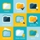 Folder Icons Set Favorites Settings Music Ideas Se - GraphicRiver Item for Sale