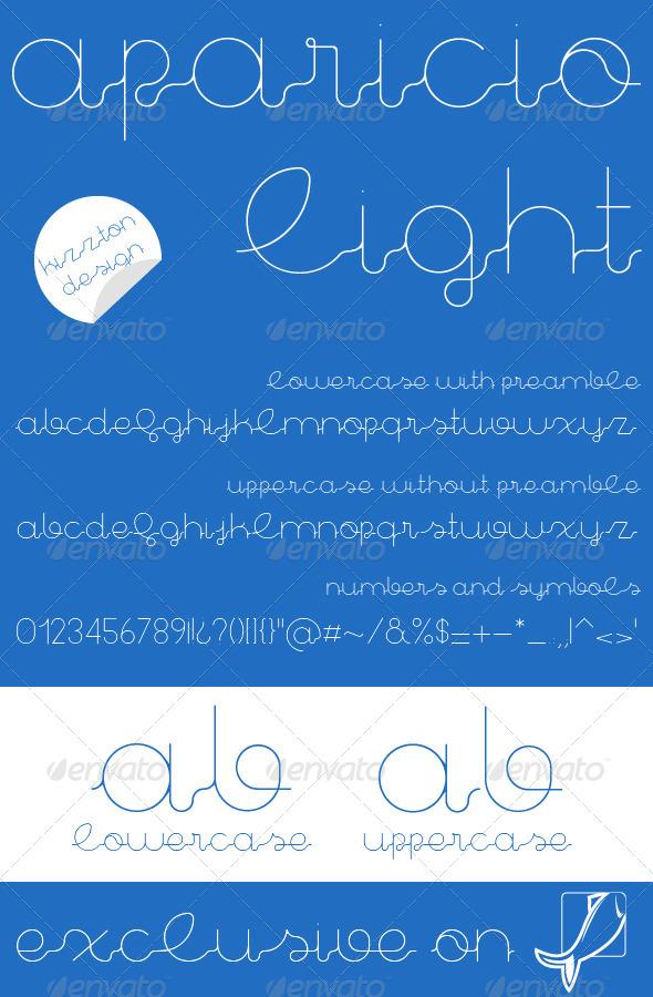 GraphicRiver Aparicio Light Premium Font 8331159