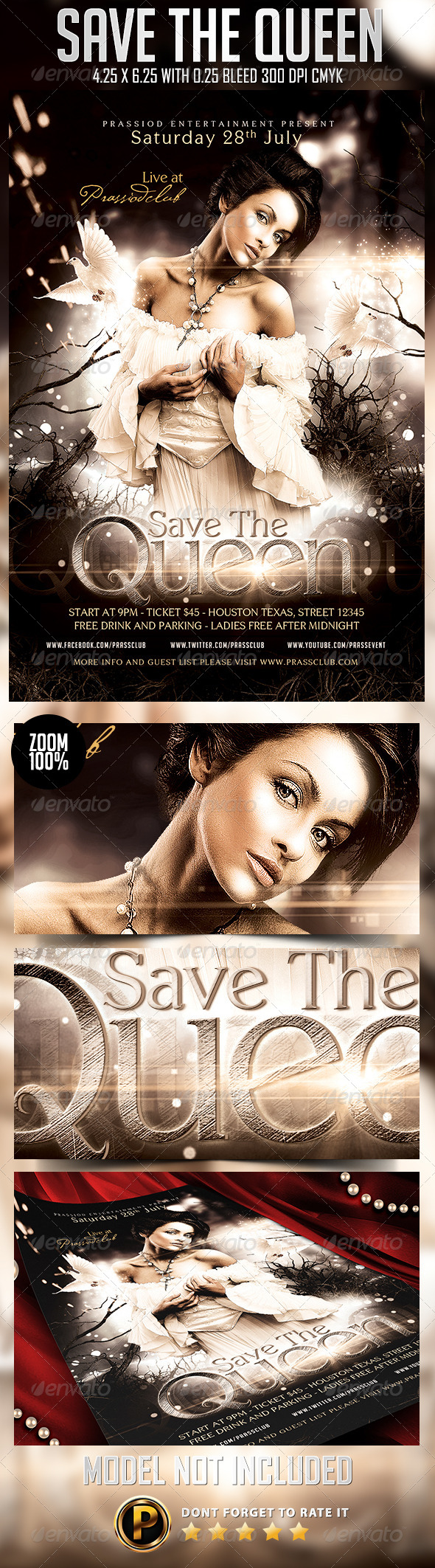 GraphicRiver Save The Queen Flyer Template 8331304