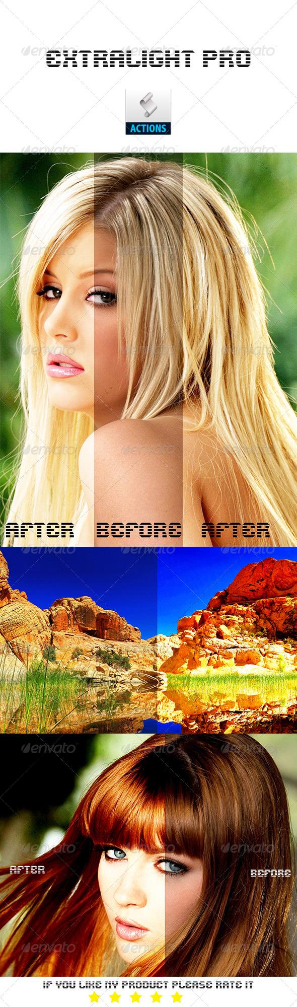 GraphicRiver Extralight Pro Photoshop Action 8331373