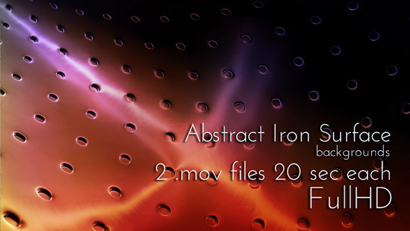 Abstract Iron Surface with Apertures