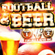 Football & Beer Flyer Template PSD - GraphicRiver Item for Sale