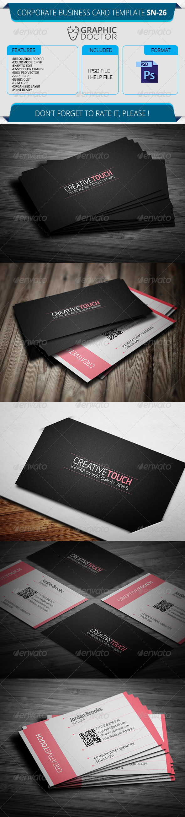 Corporate Business Card Template SN-26