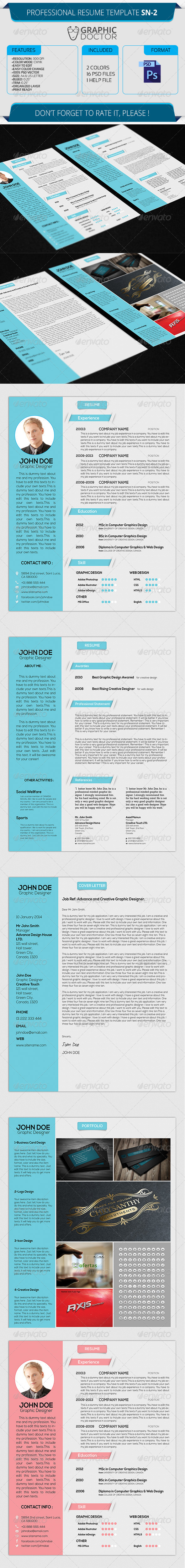 Professional Resume Template SN-2