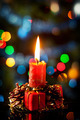 Red christmas candle in atmospheric light  - PhotoDune Item for Sale