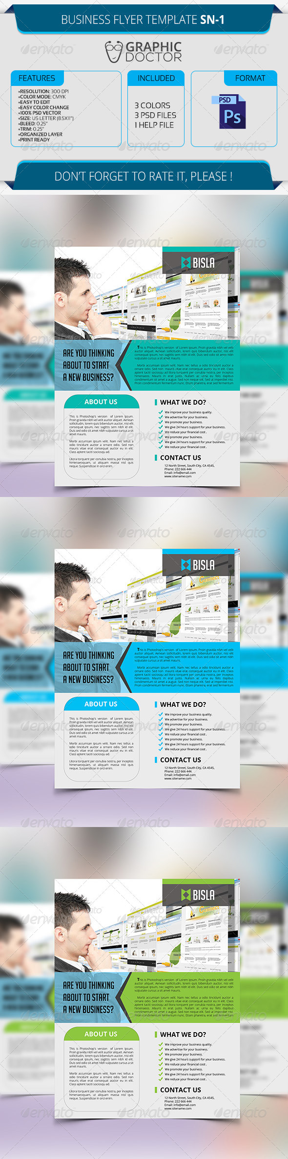 Business Flyer Template SN-1