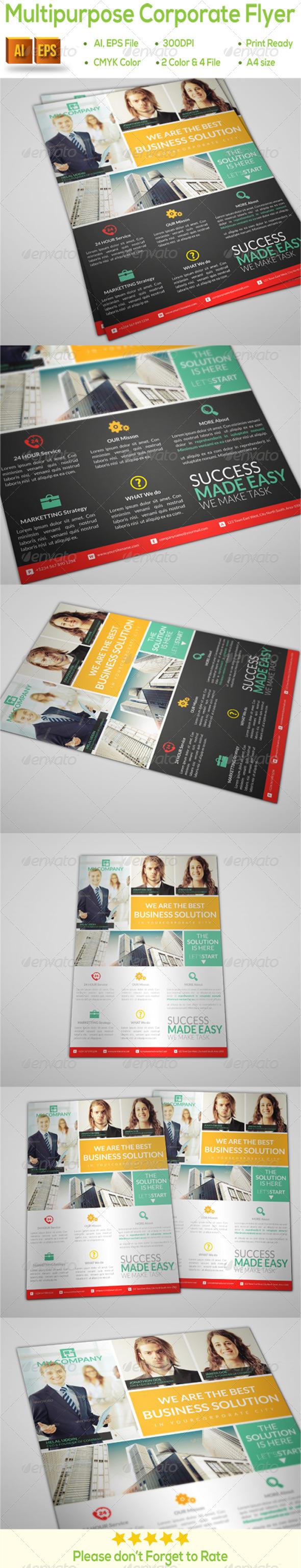 GraphicRiver Multipurpose Corporate Flyer 8325219