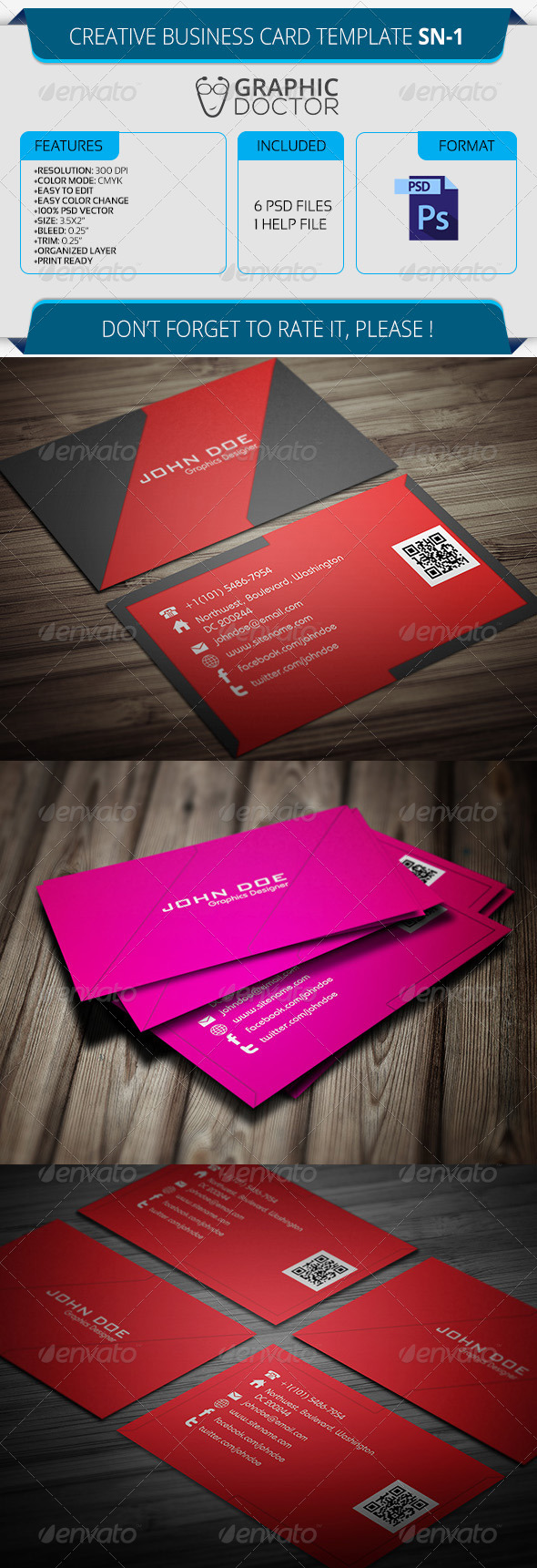 Creative Business Card Template SN-1