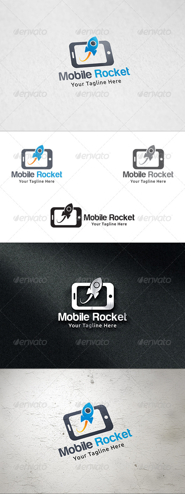 GraphicRiver Mobile Rocket Logo Template 8332227