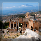 Ancient Theatre And Etna - VideoHive Item for Sale