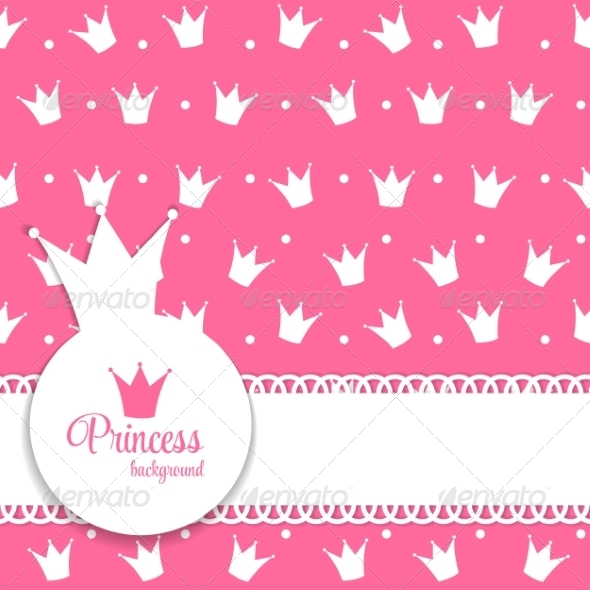 GraphicRiver Princess Crown Background Vector Illustration 8332397