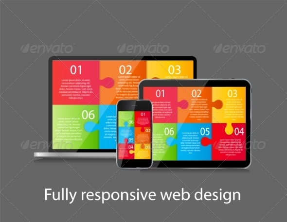 GraphicRiver Fully Responsive Web Design Concept Vector 8332402
