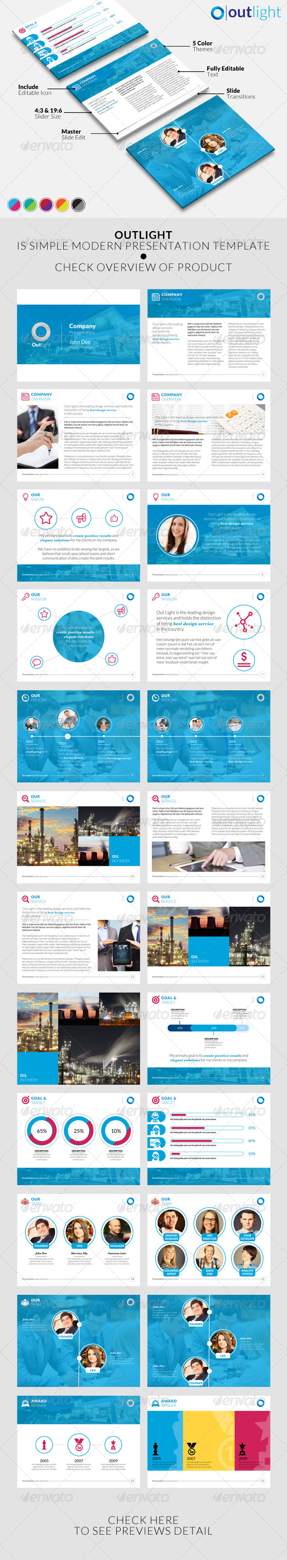 GraphicRiver Outlight Powerpoint Template 8332433