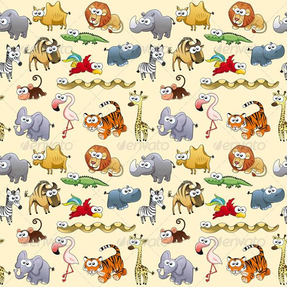GraphicRiver Savannah Animals Background 8332479