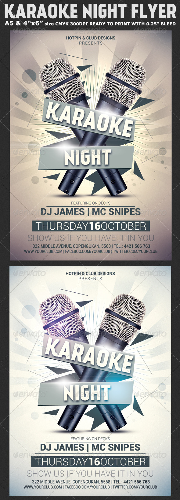 GraphicRiver Karaoke Night Flyer Template 8332558