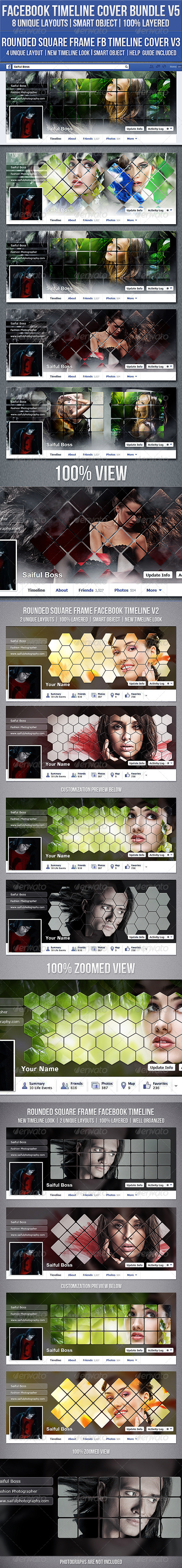GraphicRiver Facebook Timeline Cover Bundle V5 8332599
