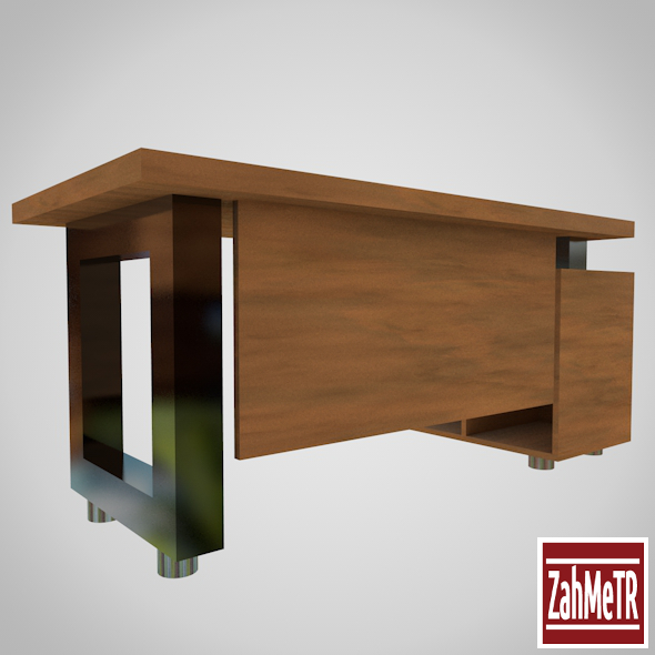 3d model 3docean office desk table 001 8332890 baofine for Office table 3d design