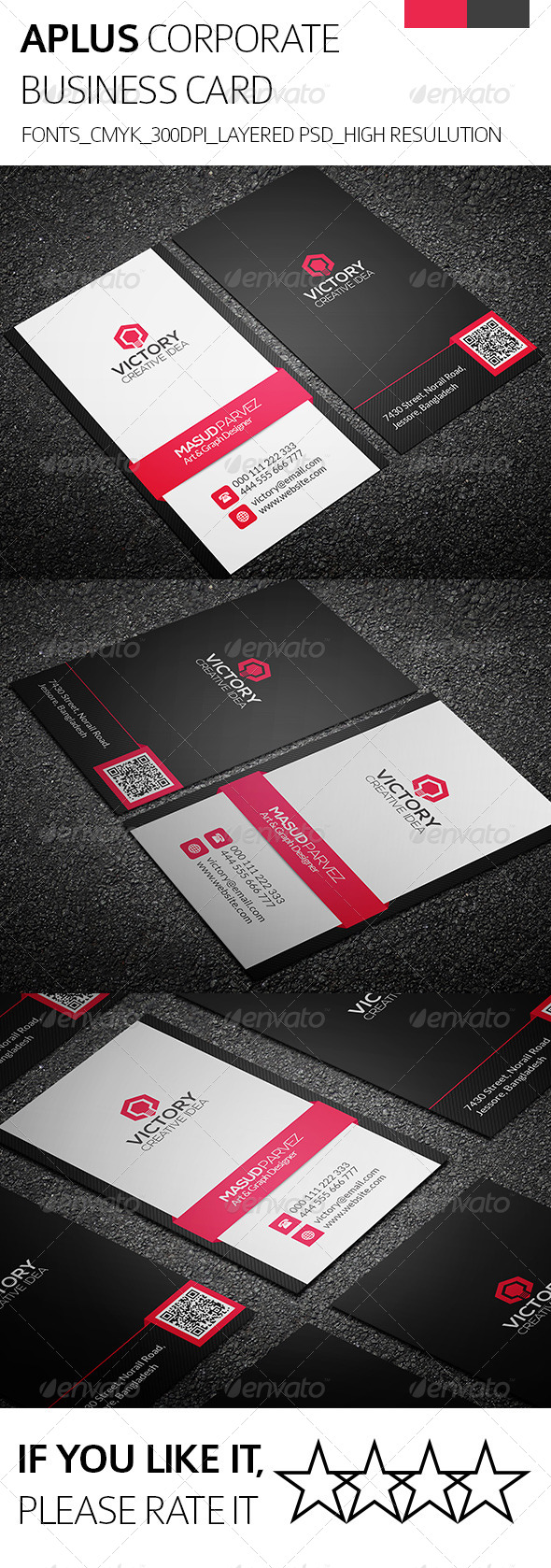 GraphicRiver Aplus & Corporate Business Card 8333014