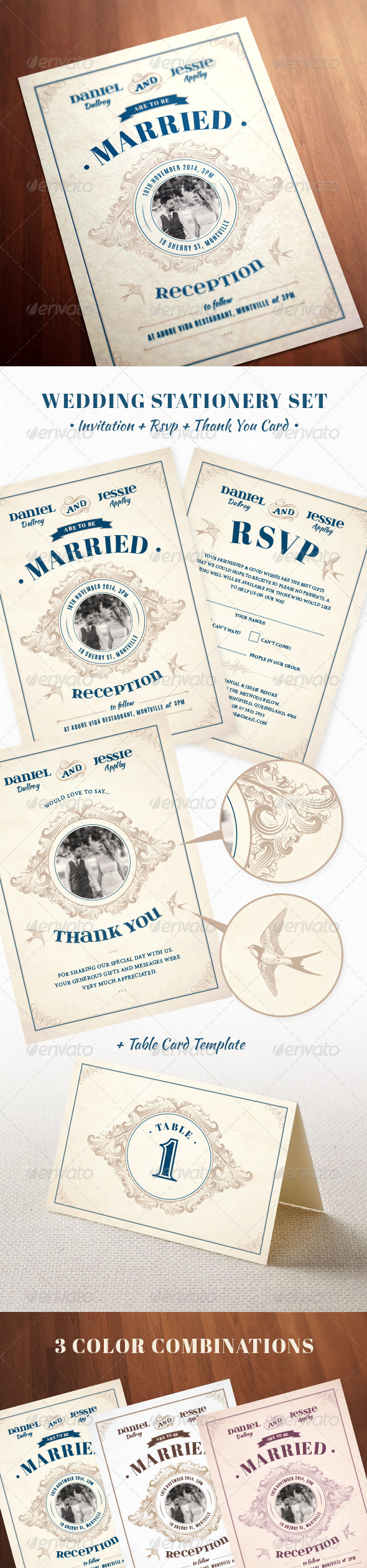 GraphicRiver Wedding Invite 8333203