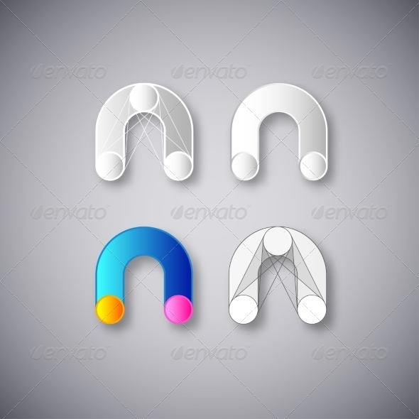 GraphicRiver Letter N Abstractions 8334319