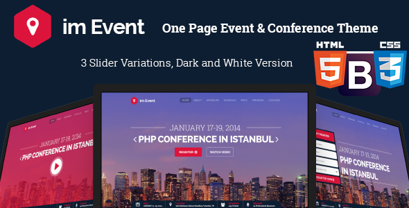 im Event - One Page HTML Event Conference Template