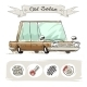 Old Cartoon Sedan Set - GraphicRiver Item for Sale
