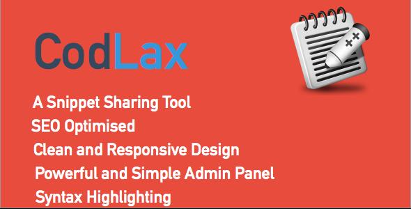 CodeCanyon CodLax Snippets Sharing Tool 8273692