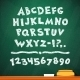 Cartoon Chalk Vector Font on Green School Board - GraphicRiver Item for Sale