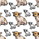 Seamless Pattern of Adorable Chihuahua - GraphicRiver Item for Sale