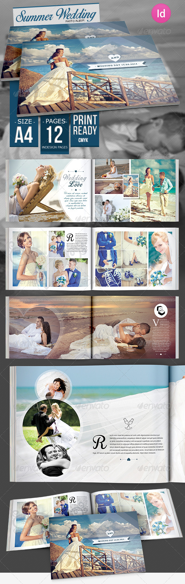 GraphicRiver Summer Wedding Photo Album 8334964