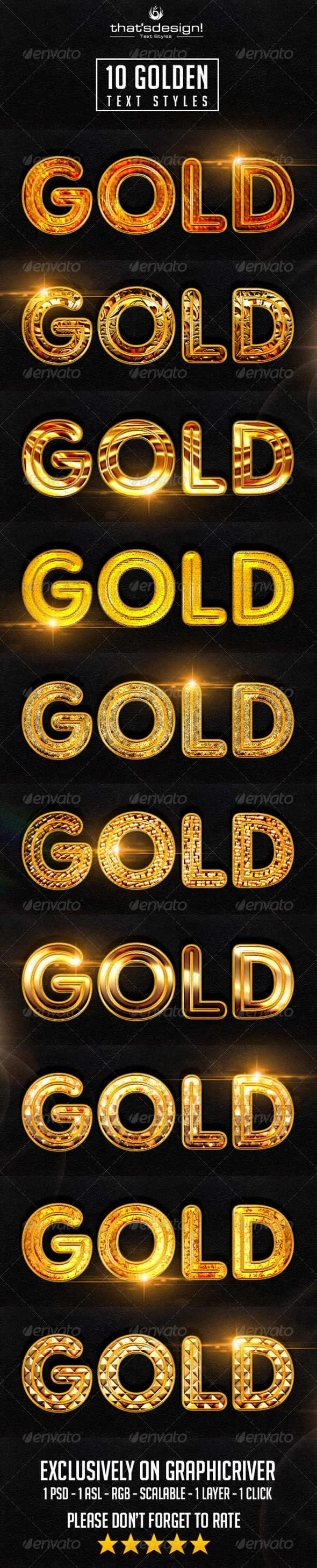 GraphicRiver 10 Golden Text Styles 8334980