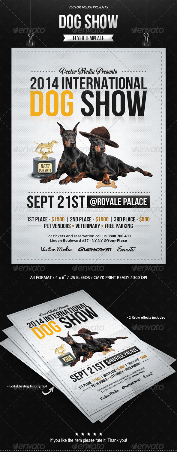 GraphicRiver Dog Show Flyer 8335401