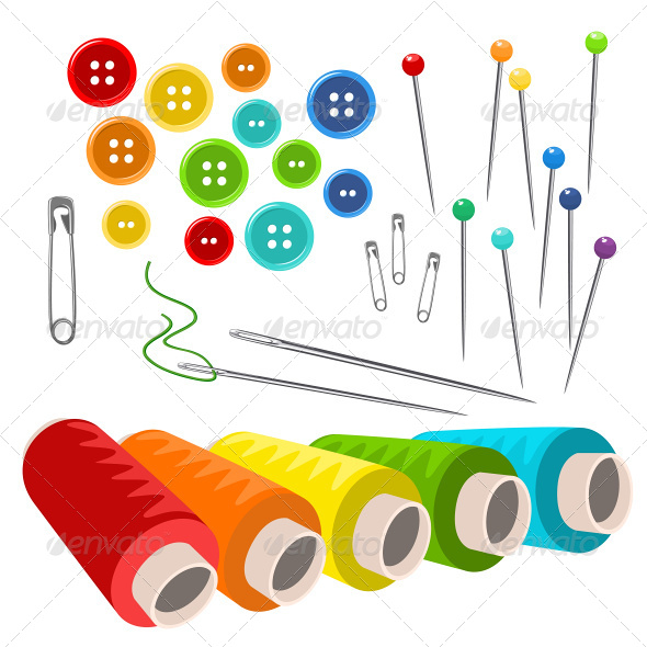 GraphicRiver Sewing Accessories 8336357