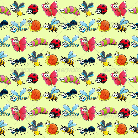 GraphicRiver Insects Background 8336364