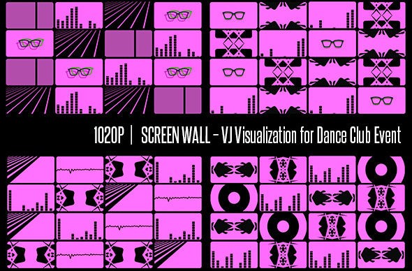 Screen Wall VJ Visualization