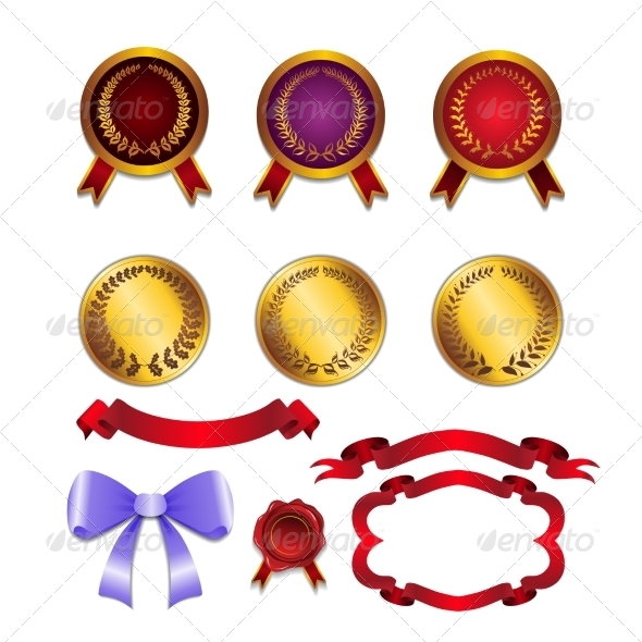 GraphicRiver Set for Design Ribbons and Medals 8336405
