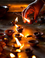 Burning candles in the Indian temple. - PhotoDune Item for Sale