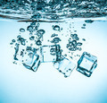 Ice cubes falling under water - PhotoDune Item for Sale