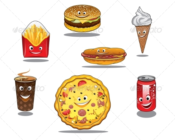 GraphicRiver Fast Food and Takeaway Food Icons 8336676