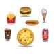 Fast Food and Takeaway Food Icons - GraphicRiver Item for Sale