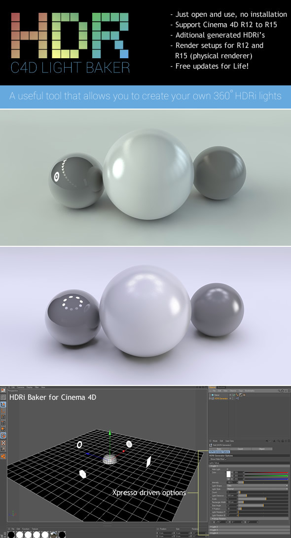 3DOcean HDRi Light Baker 8336739