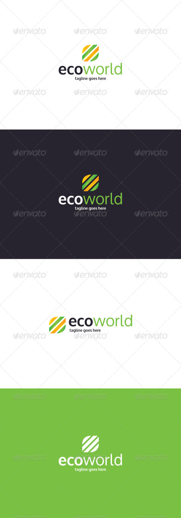 GraphicRiver Eco World Logo 8336780